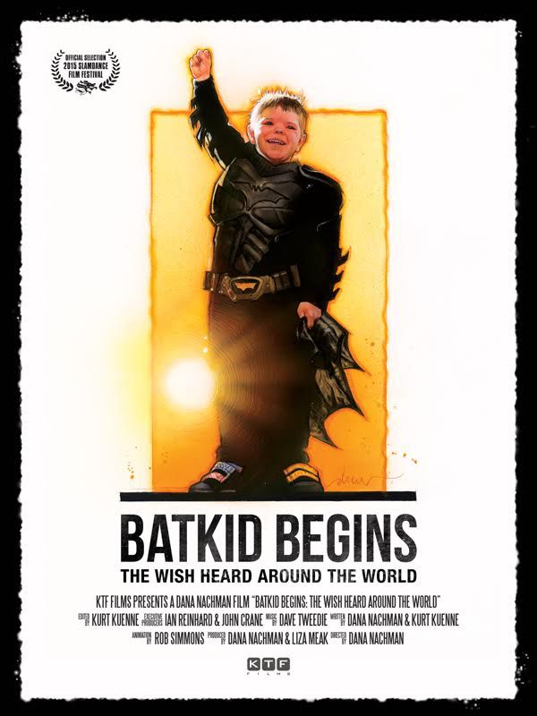 Promotional poster for documentary Batkid Begins: The Wish Heard Around The World by Drew Struzan
