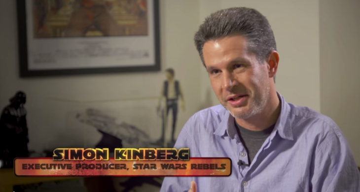 Screengrab of Simon Kinberg's interview for Disney's Star Wars Rebels