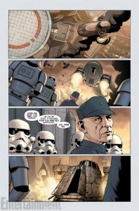 A page from Marvel's Star Wars #1. Image: John Cassady, Laura Martin (Entertainment Weekly)