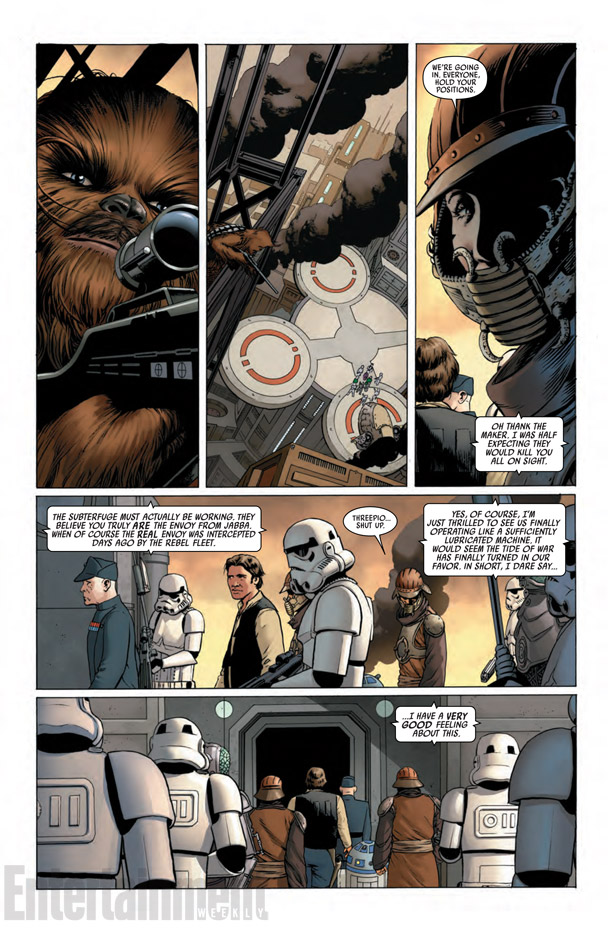 Another page (not in sequence) from Marvel's Star Wars #1 comic. Image:  John Cassaday, Laura Martin (Entertainment Weekly)