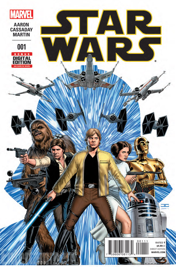 Marvel's Star Wars #1 cover art by John Cassady. Image: Entertainment Weekly, Marvel