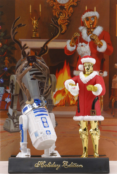 C3PO Santa and Rd@D Rudolph as Hasbro toys. Picture: Starwars.com