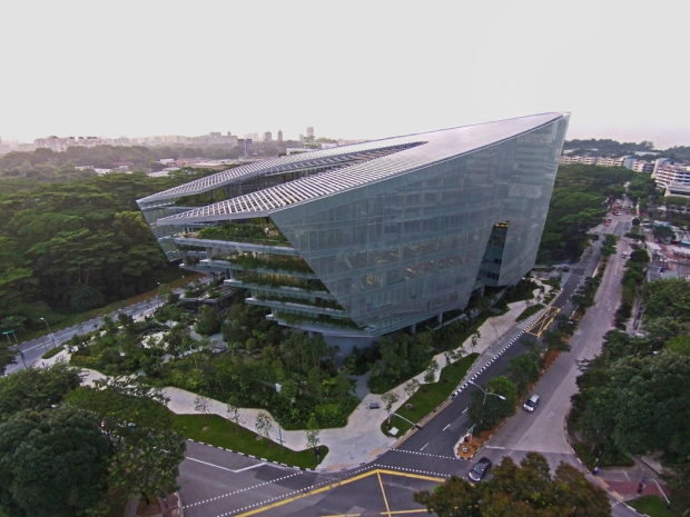 LucasFilm's Singapore campus affectionately named The Sandcrawler.