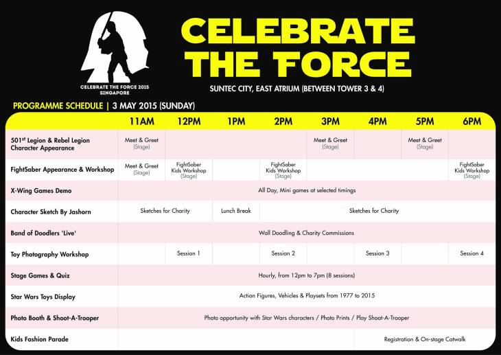 Plan your day (or half-day) at the Celebrate the Force event.