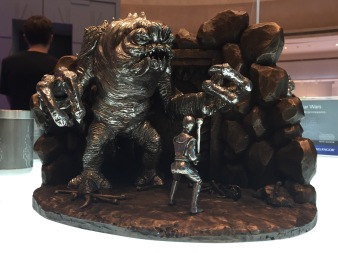 This special Luke versus Rancor diorama has a background cast in bronze and is limited to only 500 worldwide.