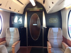 Star Wars-themed plush cabins. Photo: Tetsudo My Navi