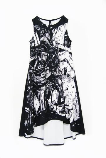 Darkside Sketch Dress (Black)