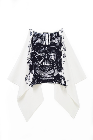Darth Vader Cape Top (White)