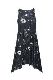 The Galaxy Cowl Neck Flair Dress (Back)