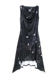 The Galaxy Cowl Neck Flair Dress (Front)